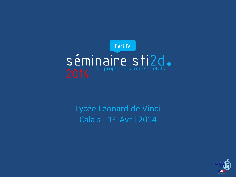 Séminaire Académique  Avril 2014