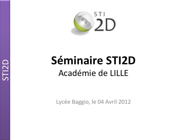 Séminaire Académique STI2D