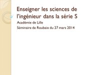 séminaire SSI  Mars 2014